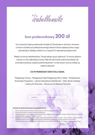 Bon podarunkowy Soft Flowers IsabelleNails 200 zł