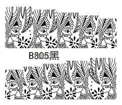 Naklejki wodne do paznokci B305