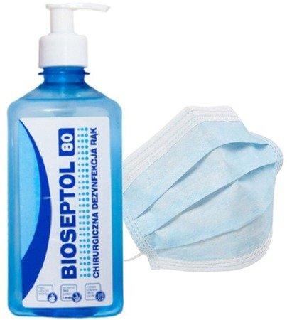 Zestaw Bioseptol 80 + maseczka chirurgiczna