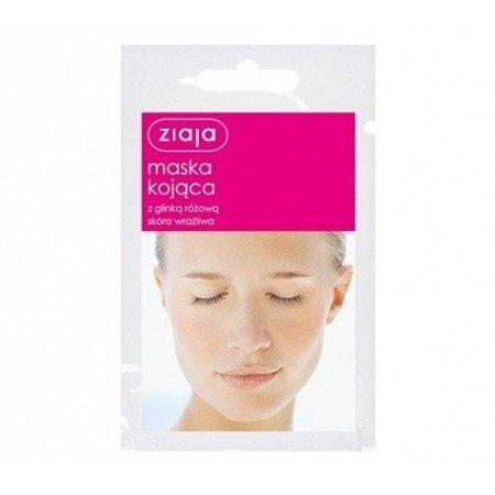 Ziaja Maska kojąca z glinką różową 7 ml